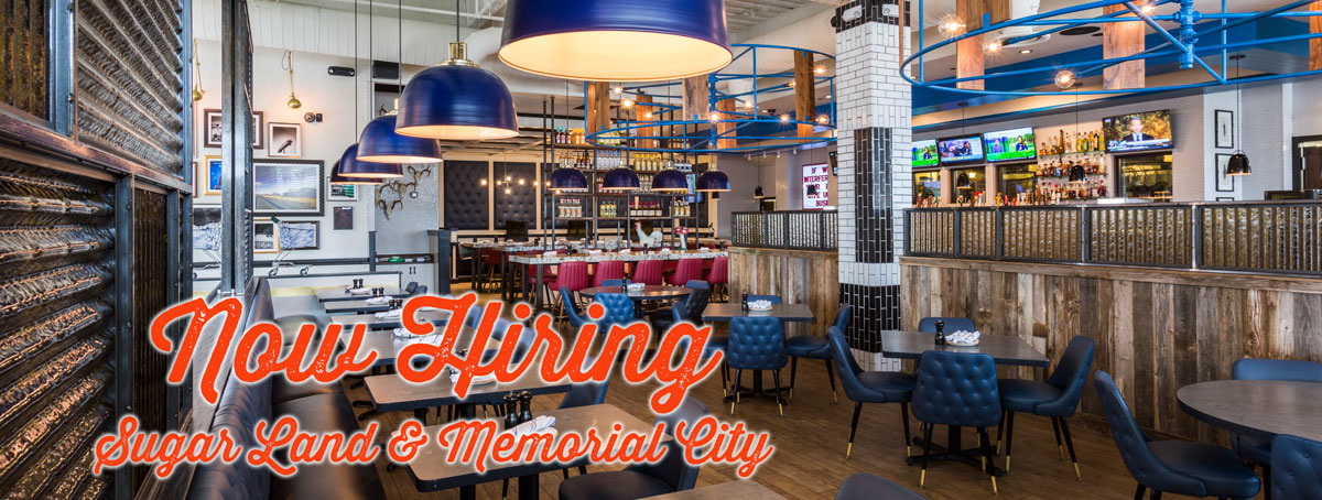 We're now hiring at our Memorial City and Sugar Land locations